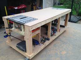 Garage Workbench Design Ideas Mobile Woodworking Bench Plans Home Design Ideas