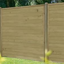 horizontal tongue groove fence panel