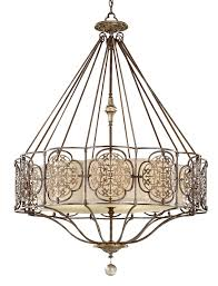 feiss marcella large art deco style designer 4 light feature chandelier