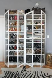 ikea bookcase shoe storage add glass doors and this plain bookcase would become a nice display