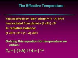the effective temperature using what we have learned about radiative heat transfer and some geometric calculation