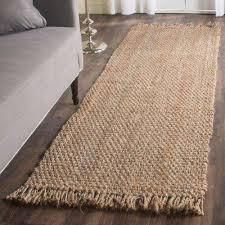 natural fiber beige 3 ft x 10 ft runner rug