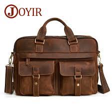 "<b>JOYIR</b> Men's <b>Briefcases Genuine Leather</b> 15.6"" Laptop Office ..."