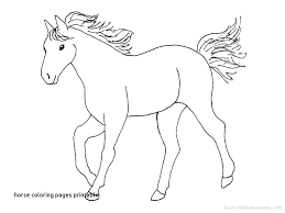 Simple Horse Coloring Pages Simple Horses Coloring Pages Shocking