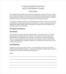 Snow Removal Bid Template Snow Plowing Contract Template 6 Download Documents In