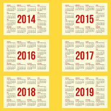 free year calendar 2015 calendar 2014 to calendar 2019 vector free vector graphic download