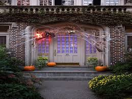 Exteriors : Outdoor Halloween Decorations With Nice Lighting ...