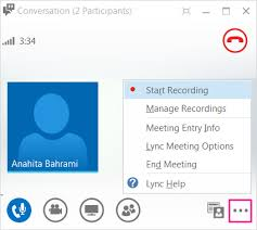recording a skype call record and play back a lync meeting office support