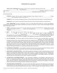 Simple Rental Agreement Template Residential Lease Template Free Rome Fontanacountryinn Com