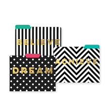 decorative office supplies. File Folders - Dream Believe Achieve Decorative Office Supplies R