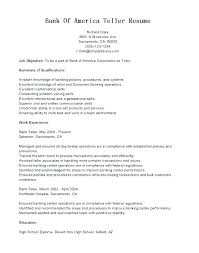 Resume Skills For Bank Teller Resumes For Bank Jobs Top Rated Resume
