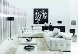 minimalist modern furniture. living room in minimalist style white furniture walls black artwork modern m