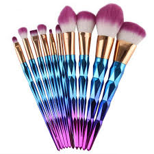 unicorn brush set. coshine new arriveral 10pcs/set rainbow unicorn oval makeup brush set professional foundation powder cream blush kits-in underwear from mother \u0026 kids p
