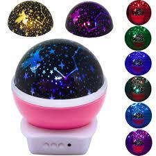 Unicorn Night Light Projector Amazon Com Led Lamp Moon Star And Unicorn Night Light