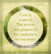 Life Is A Circle THE END OF ONE JOURNEY IS THE BEGINNING OF THE Beauteous At The End Of Life Quotes