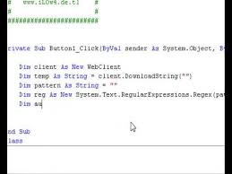 Regex Pattern Unique Visual Basic 48 Pattern Regex YouTube