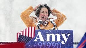 Image result for amy klobuchar in snowstorm