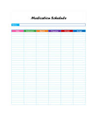 Medication Schedule Chart Free Printable Medication Chart Free Printable