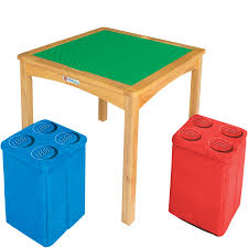 lego reversible table with storage ottomans