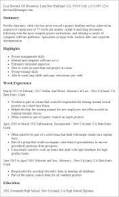 Sample Resume Of Data Entry Clerk Resume Sample