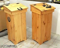 cool wooden trash cans from jayscustomcreationscom diy wood trash cans wood trash cans for kitchen plans