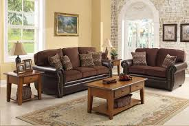 marvelous dark brown fabric living room furniture brown fabric sofa sets brown varnished wood coffee table