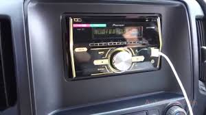 CHEVY SILVERADO 2014 PIONEER DOUBLE DIN RADIO USB FHX500UI - YouTube