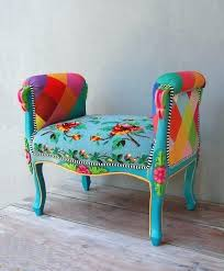 bohemian chic furniture. Boho Furniture Rainbow Bench Bohemian Vanity Chair Chic For Sale