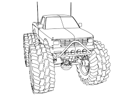 Monster truck coloring pages on chevy truck wiring diagram chevrolet v