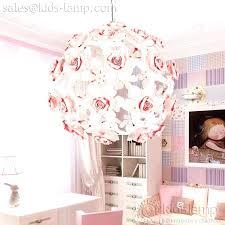 ikea flower chandelier interesting pink ball for girls room kids lamp white
