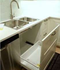 one new option i didn t like was this undersink pullout it s made to look like two drawers from the front but it felt flimsy because the front panel is so