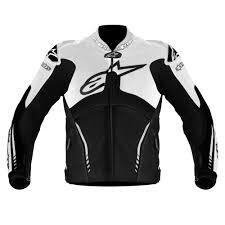 alpinestars jacket atem leather black white small