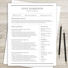 Resume Template 21 Simple Resume Template Clean Resume Design