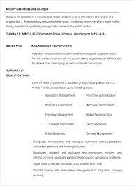 How To Write A Military Resume Military Resume Template Military