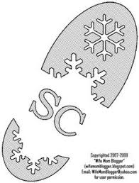 Santa Boot Template Use This Template As A Stencil For Santa Boot Prints Just