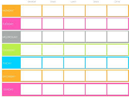 work out schedule templates weekly planner template printable best template blank workout