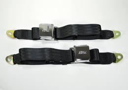black ford logo. chrome liftlatch buckle ford logo lap belts black ford
