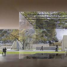 Construction has begun on a wedge-shaped building by American architect  Steven Holl for the