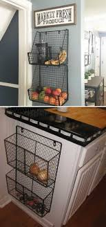 cool kitchen ideas. Attach Wire Baskets To The Side Of Kitchen Wall Or Cabinet Cool Ideas