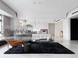 black bedroom rug. Large Modern Living Room With Black Shag Rug - Stock Photo Bedroom .