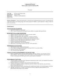 Sample Teacher Assistant Resume Sample Preschool Teacher Assistant Resume Aide Resumes