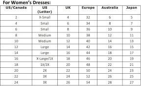 Size Comparison Chart Clothing 5 Tips On Buying Western Sized Clothing In Japan