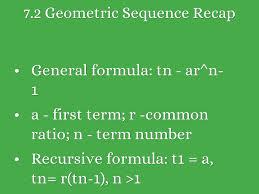 7 2 geometric sequence recap general formula tn