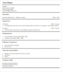 Resume Templates Student
