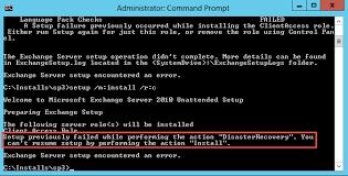Exchange 2010 Recover Exchange Server Setup Fails