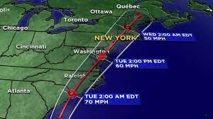 Tropical storm warning issued for NY ...
