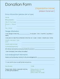Sample Donation Form Donation Form Template Excel Word Templates