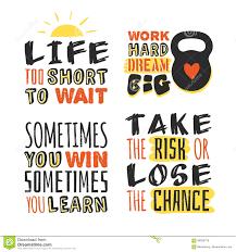 Motivation Templates Set Of Text Templates For Designs Sport Motivation Quote Positive