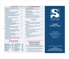 Take Out Menu Template 20 Take Out Menu Templates Free Sample Example Format