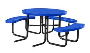 city series round ada picnic table blue